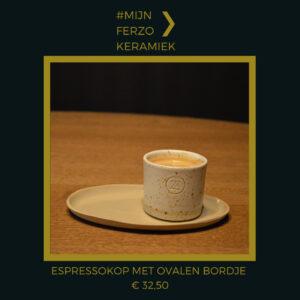 #MijnFerzo keramiek espressokop met ovalen bordje
