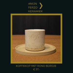 #MijnFerzo keramiek koffiekop met rond bordje